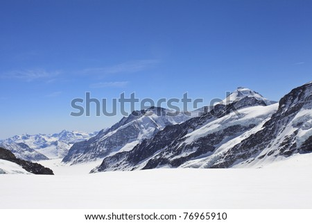 Winter landscape in the Jungfrau