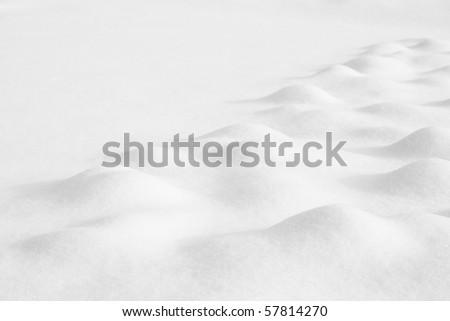 Winter landscape with hills covered with snow - stock photo