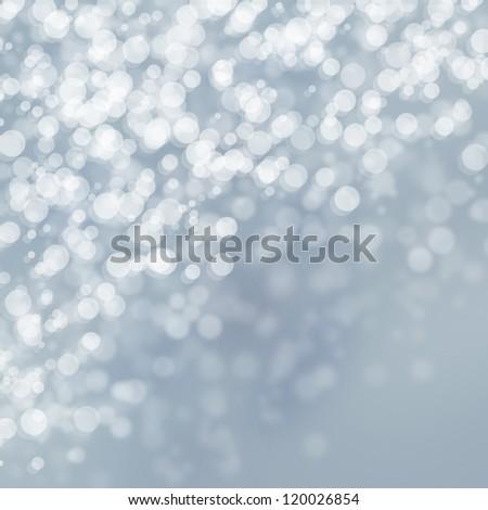 Winter lights on bright background - stock photo