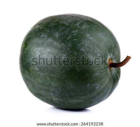 Winter melon isolated on white background. - stock photo