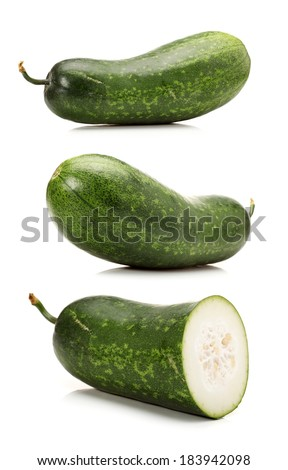 Winter melon on white background  - stock photo