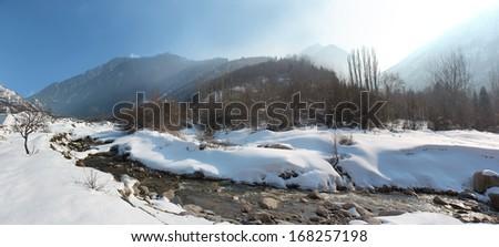 Winter mountain - stock photo