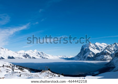 Winter Mountain of Alps
