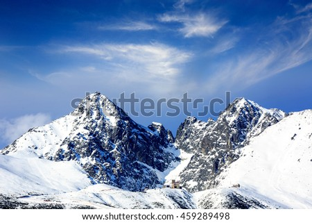 winter mountain scene in Tatras, Slovakia