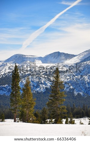 Winter Mountain Snow Scene - stock photo