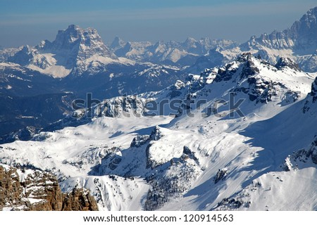 Winter mountains in Tirol