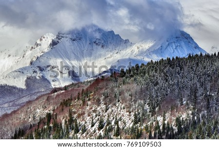 Winter mountains. Korab, Macedonia