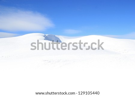 Winter mountains landscape - stock photo