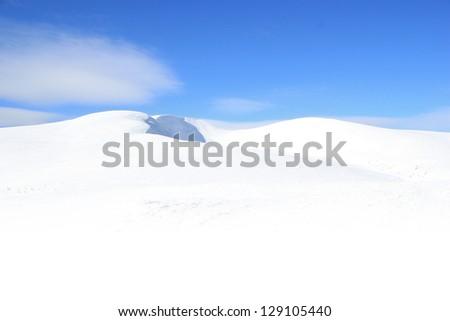 Winter mountains landscape - stock photo