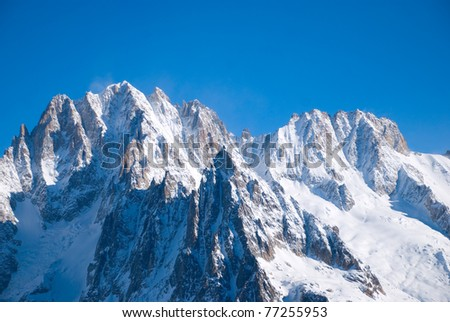 Winter mountains peaks - stock photo