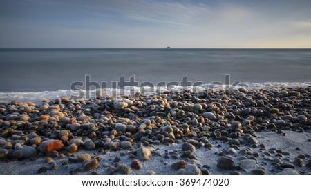 Winter on the Baltic sea - stock photo