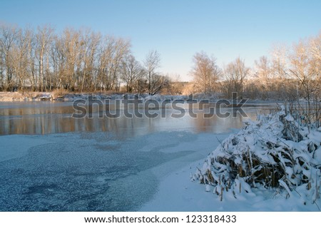 Winter  on the frozzy river