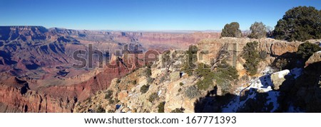 Winter panorama in Grand Canyon National Park, Arizona