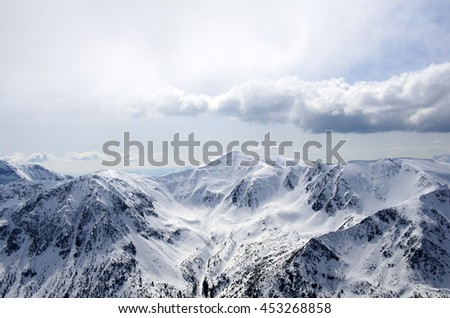 winter panorama of mountains