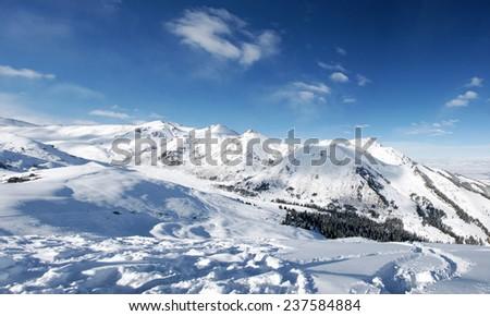 winter panoramic landscape - stock photo