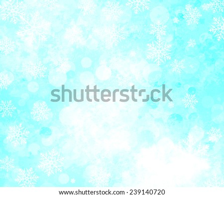 Winter pattern with snowflakes. Christmas background.  - stock photo