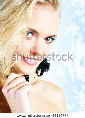 winter portrait - stock photo