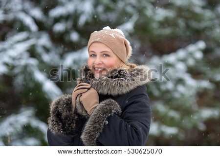 Winter portrait of woman