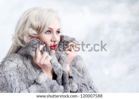 Winter queen - stock photo
