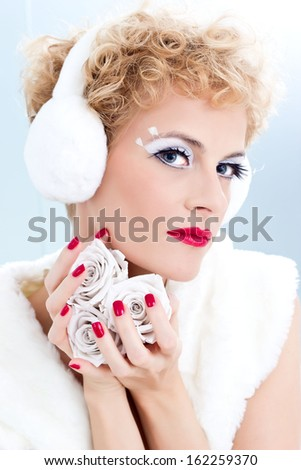 Winter red beauty - stock photo