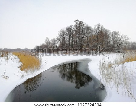 winter russian landscape