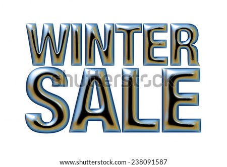 Winter Sale text on white background.