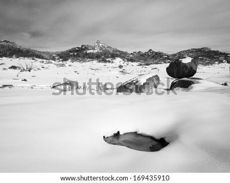 Winter scene at Mt Buffalo, Victoria, Australia - stock photo