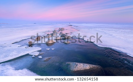winter sea - stock photo