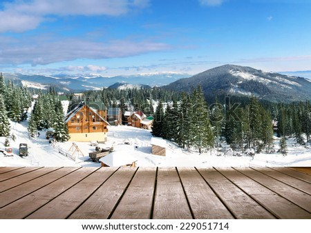 Winter seaeson landscape - stock photo
