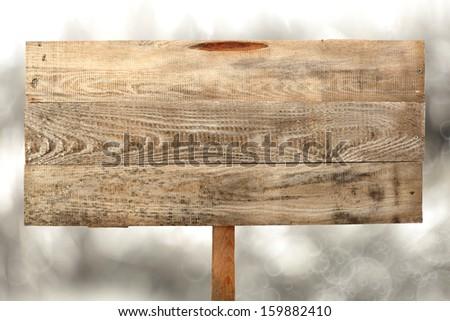 winter sign  - stock photo