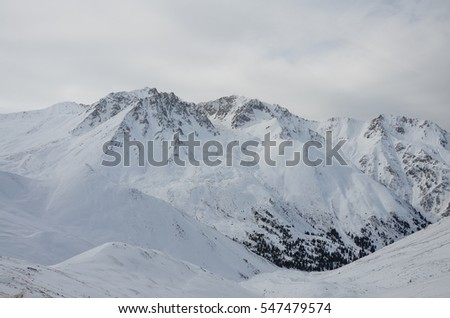 Winter, snow and high mountains
