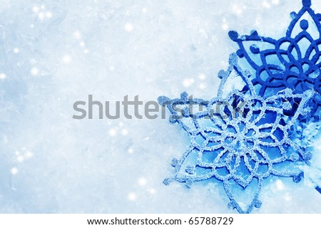 Winter Snow Background.Snowflakes - stock photo