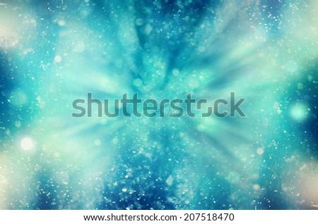 winter snowy background blizzard, frost - stock photo