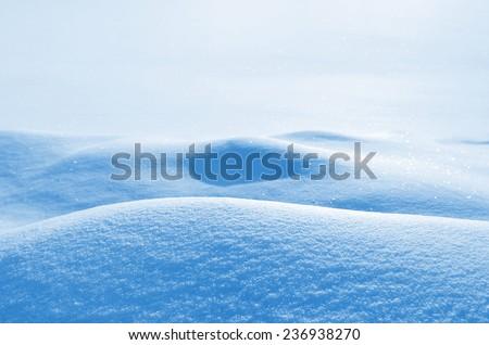 Winter snowy landscape - stock photo