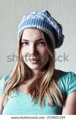 Winter soon, Cap girl or Knitting, Knitted hat, Beautiful winter girl, Attractive young woman