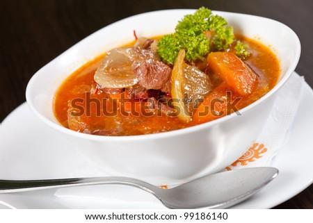 winter soup - stock photo