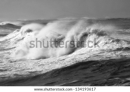 Winter storm waves on the Oregon Coast
