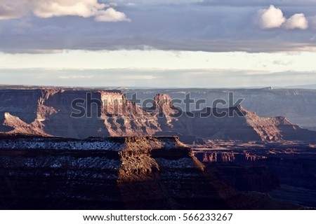 Winter Sunset, Canyonlands Utah USA