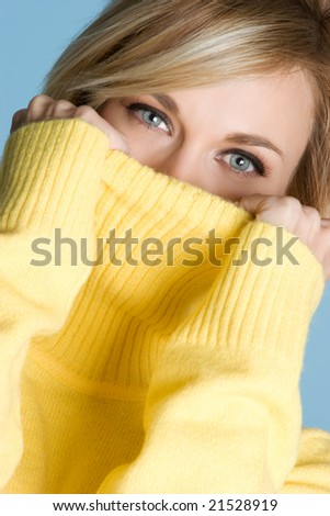 Winter Sweater Woman - stock photo