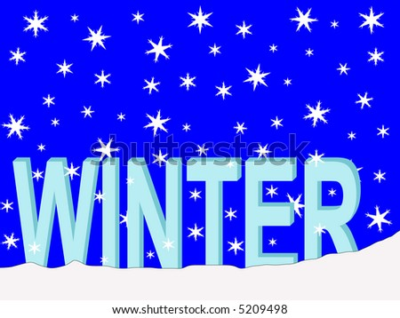 winter text with falling snow illustration JPG