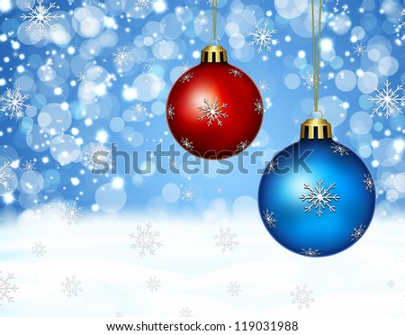 winter time , christmas ornaments - stock photo