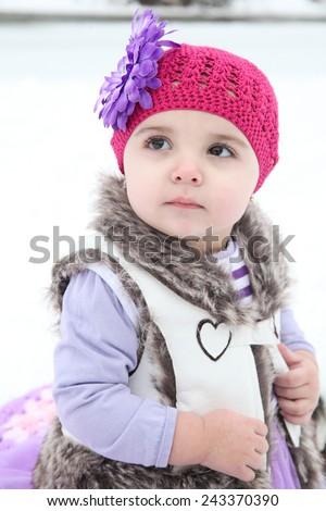 Winter toddler - stock photo
