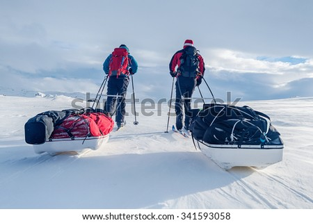 Winter Trip in Northern sweden - stock photo