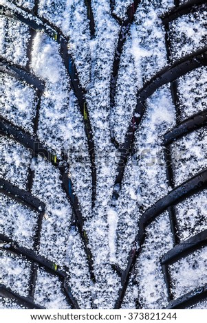 Winter tyre performance - stock photo