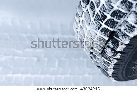 Winter tyre performance - stock photo