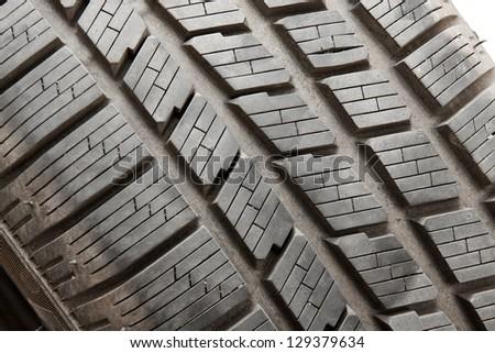 Winter tyre texture - stock photo