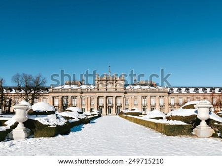 Winter View of La Granja de San Ildefonso, Segovia, Spain