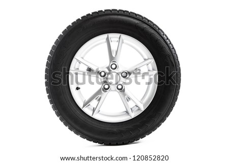 winter wheel isolated on white