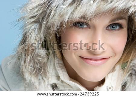 Winter Woman - stock photo