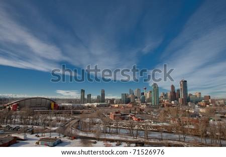 Winter Wonderland in Calgary, Alberta, Canada - stock photo